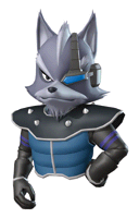 Brawl Sticker Wolf (Star Fox Command)