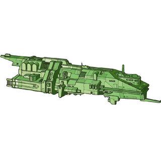 Human <i>Lightning</i>-Class Frigate