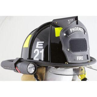 Helmet-mounted flashlight