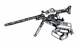Machine Gun on Tripod