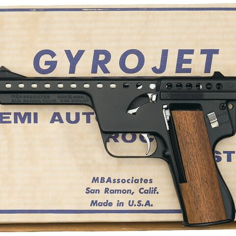 Real-world 13mm gyrojet pistol