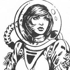 Bubble-helmet spacesuit