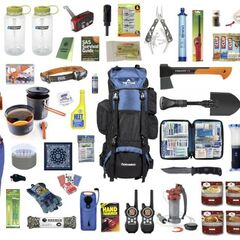 Deluxe Survival kit, purchased individually by explorers.