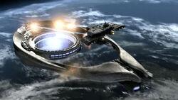 Odyssée détruit un vaisseau-mère Ori