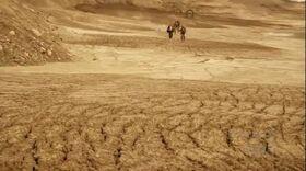 Planète à la carrière de roches
