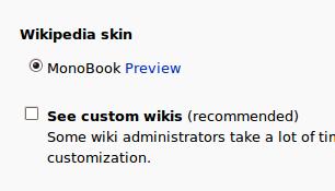 Skin monobook
