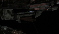 Ursini spaceship docked with Destiny
