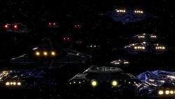 La flotta alleata al punto di incontro