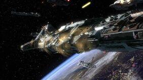 Dardi e 302 attaccano una nave classe Aurora