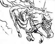 Fallon riding Moondance