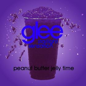 Peanut butter jelly time slushie