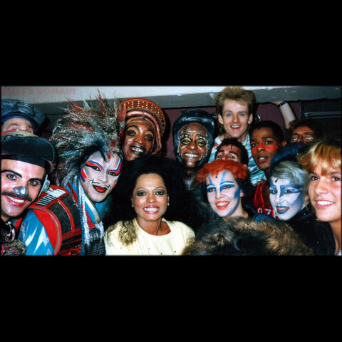 Meeting Diana Ross backstage