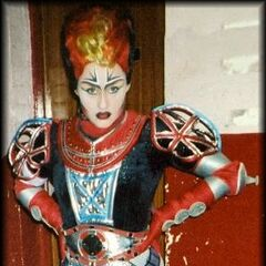 Kate Alexander as Wrench, London 2001