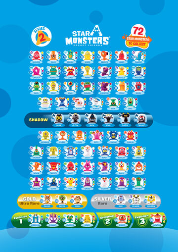 Star Monsters Checklist Series 2