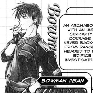 Bowman as he appears in <i>Star Ocean: Blue Sphere</i> manga.