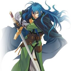 Dias as he appears in the mobile phone version of <i>Star Ocean: Blue Sphere</i>