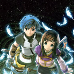 Fayt and Sophia in box art (PAL).