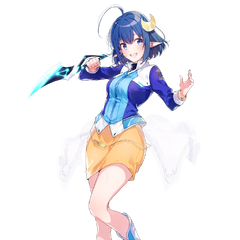 Blue Sphere Rena artwork by <a class=