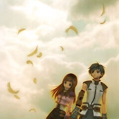 Fayt and Sophia in <i>Director's Cut</i> promotional art.