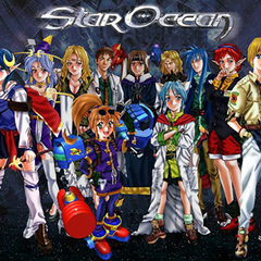 Official artwork of all (but Noel) the playable characters.