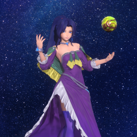 Mavelle's in-game character model in Star Ocean: Anamnesis.