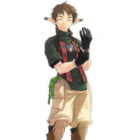 Noel as he appears in the mobile phone version of Star Ocean: Blue Sphere.