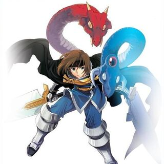 Ashton as he appears in the mobile phone version of Star Ocean: Blue Sphere.