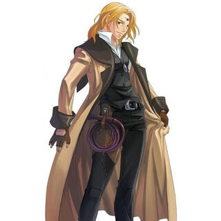 Ernest as he appears in the mobile phone version of Star Ocean: Blue Sphere