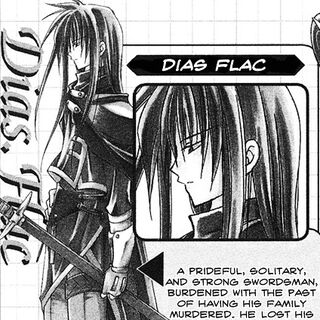 Dias as he appears in <i>Star Ocean: Blue Sphere</i> manga.