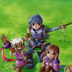 Fayt, Sophia and Peppita by Jun Sato.