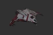 Red Corsair Ships Hammerhead Gunship