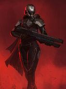Red Corsairs Drakhjelm Linda Armor