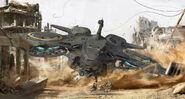 Fists of Sol Avenger Heavy Gunship