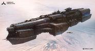 Fists of Sol Ship Vengeance-class Battleship