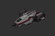 Red Corsair Ships Megalodon Corvette