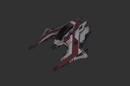 Red Corsair Ships Piranha Fighter