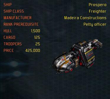 Prospero ship