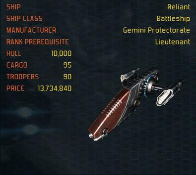 Reliant ship