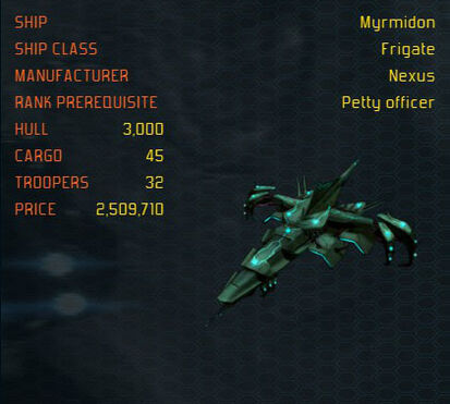 Myrmidon ship