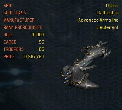 Osiris ship