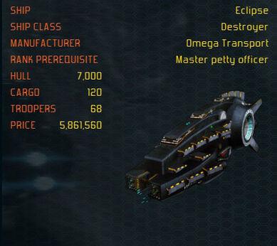 Eclipse ship