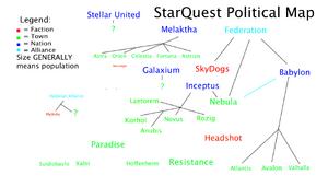 StarQuest Political Map