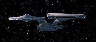 USS Enterprise-A refit, profile view