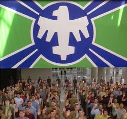 Military Flag Starship Troopers 1997 s