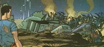 Granjas destruídas