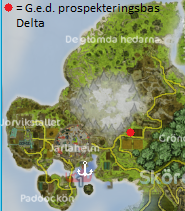 G.e.d. Prospekteringsbas Delta (karta)