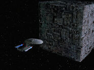 Enterprise-D and Cube