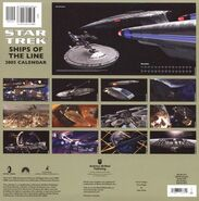 Ships of the line 2005 back cover