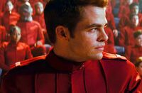 James T. Kirk Chris Pine in Trouble