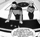 Riker and Shelby argue for Picard